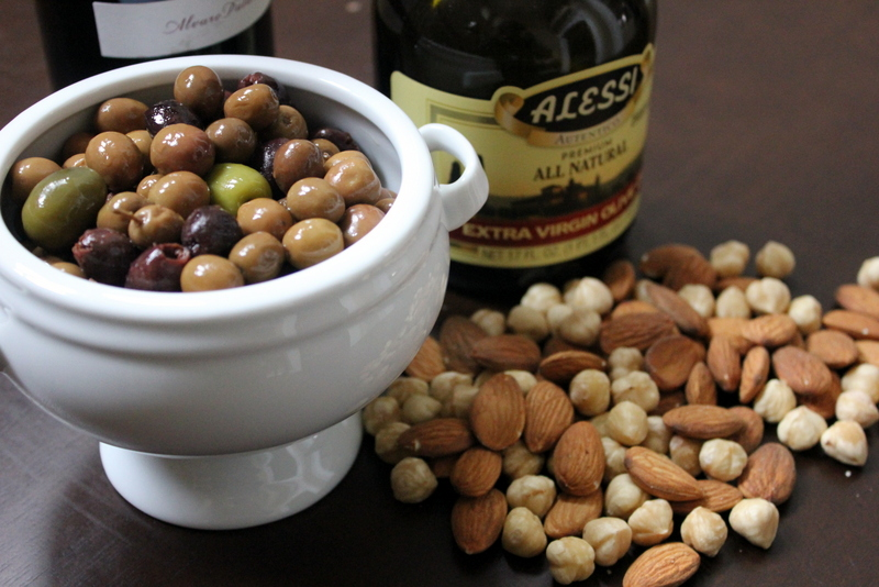 almonds and olives