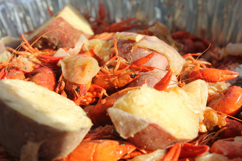 crawfish and potatoes