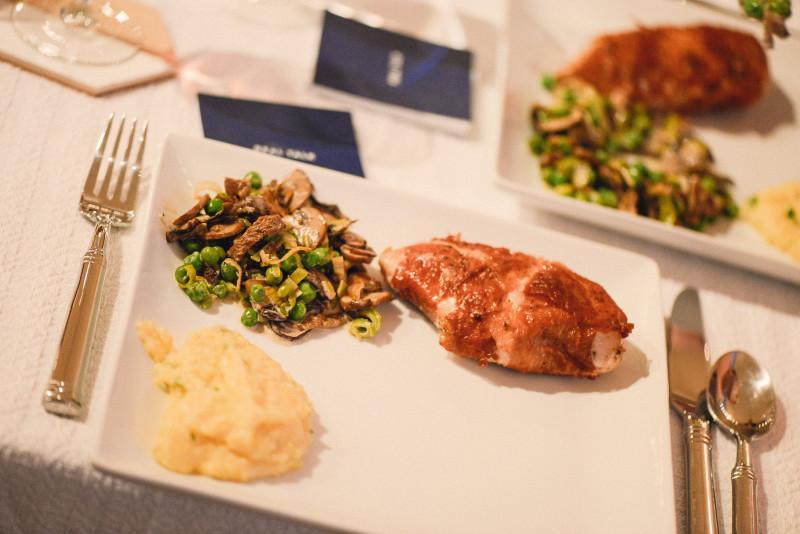 chicken, ragu, polenta